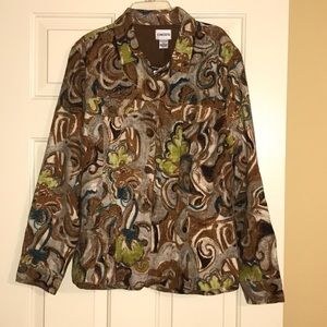 NWT Chico's Multi Color Lined Jacket Size 2